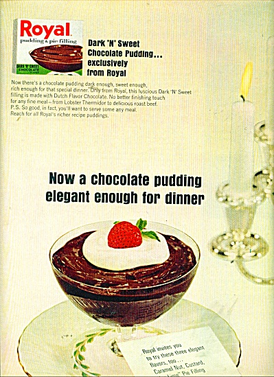 Royal chocolate pudding ad 1965 (Image1)