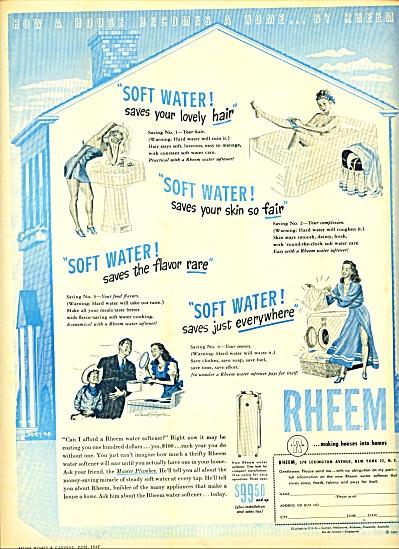 1947 -Rheem water softener  ad (Image1)