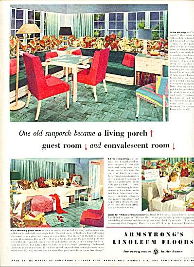 1947 -  Armstrong's linoleum floors ad RETRO DESIGNS (Image1)