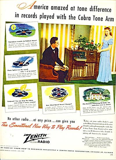 1947 - Zenith Radio ad (Image1)