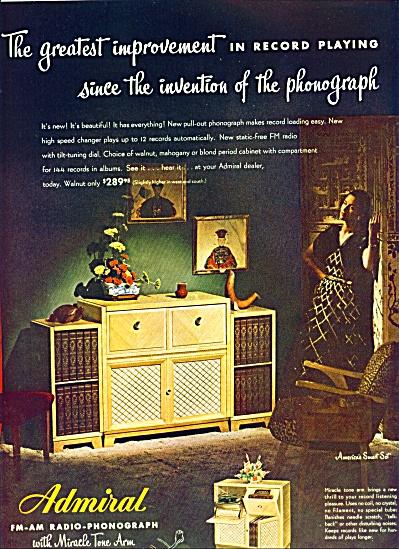 1947 -  Admiral Radio phonograph ad (Image1)