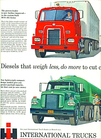 1960 =  International trucks ad (Image1)