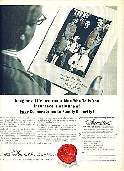 Investors Syndicate Life Insurance ad 1965 (Image1)