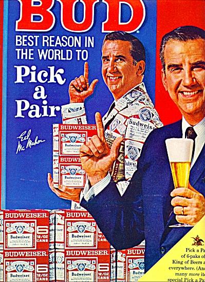 1967  - Budweiser beer - ED MC MAHON (Image1)