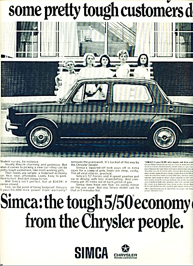 1967 - Chrysler Simca auto ad (Image1)