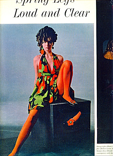 1967 - Spring legs - 5 page Fashion Model Spread (Image1)