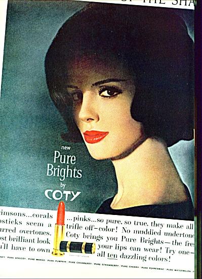1962 Coty AD Lipstick MODEL TILLY TIZZANI (Image1)