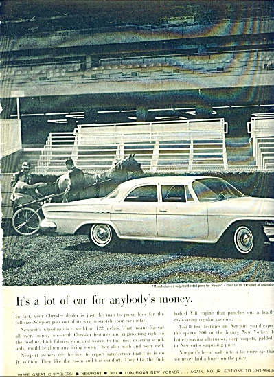 1962 - Chrysler Newport Auto Ad