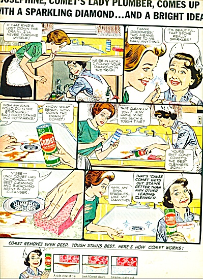 Comet cleaner - JANE WITHERS -ad 1965 (Image1)