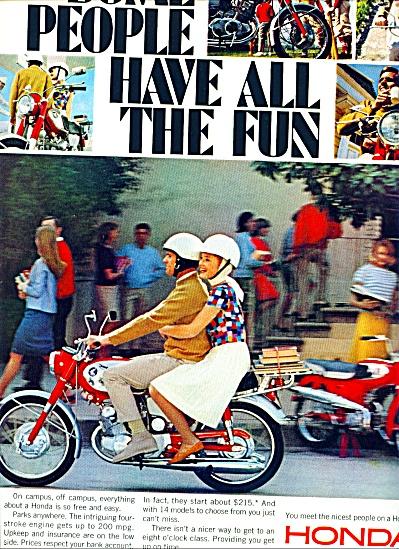 1966 - Honda motorcycle ad (Image1)