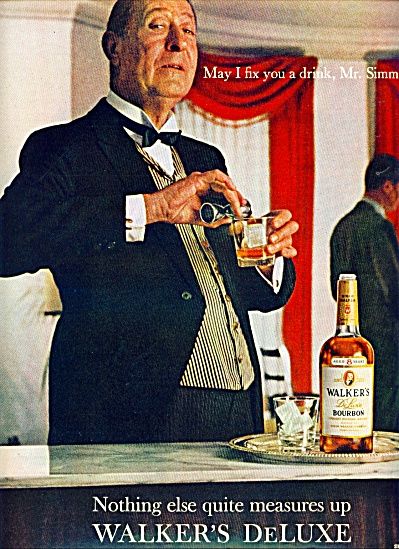 1964 -  Walker's Bourbon - ARTHUR TREACHER (Image1)