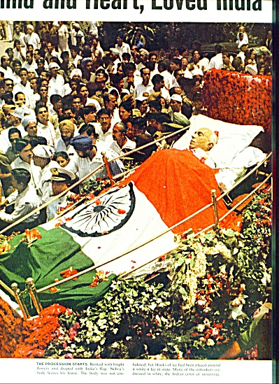 1964- Death of JAWAHARIAL NEHRU  of India (Image1)