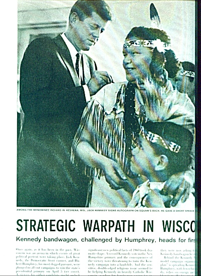 1960 -  JOHN F. KENNEDY - Humphrey campaign (Image1)