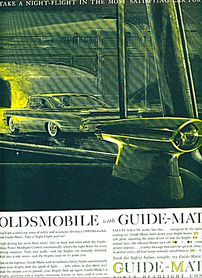 1960 - Oldsmobile With Guide Matic Ad