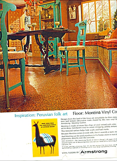 Armstrong vinyl floors ad 1965 MONTINA (Image1)