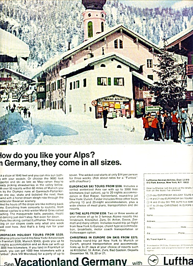 1969 -  Lufthansa German airlines ad (Image1)