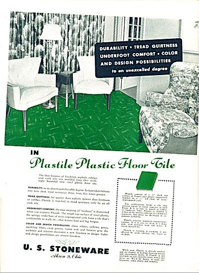 1948 - U. S.Stoneware plastic floor tile ad (Image1)