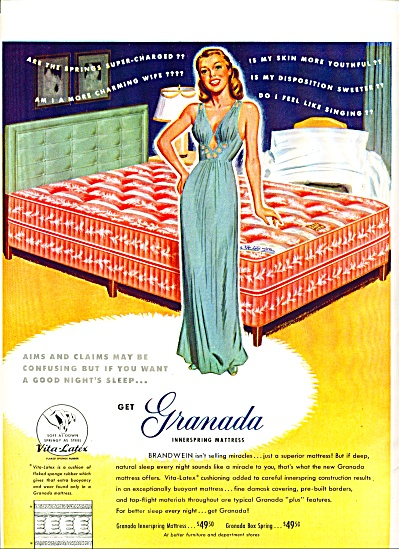 1948 =  Granada innerspring mattress ad (Image1)
