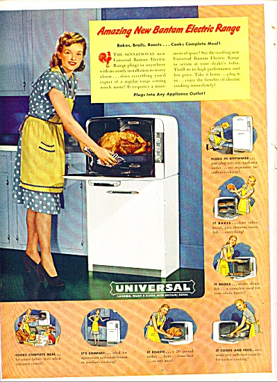 1948  - Universal bantam electric range ad (Image1)