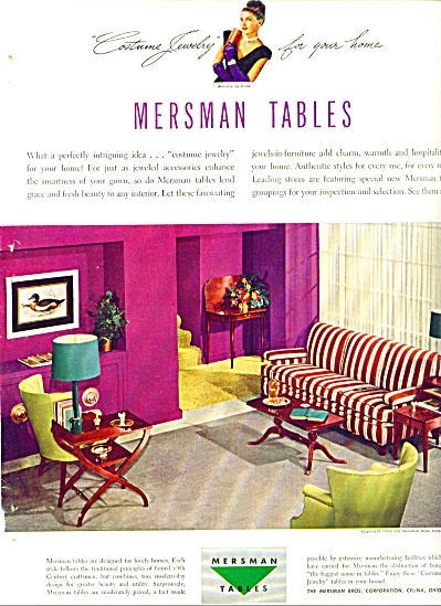 1948 - Mersman Tables Ad