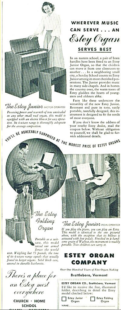 1948 -  Estey Organ company ad (Image1)