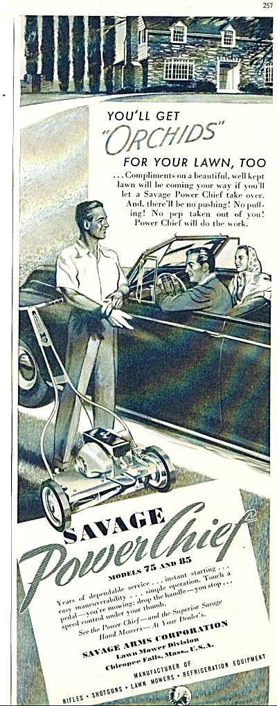 1948 -  Savage power chief lawn mower ad (Image1)