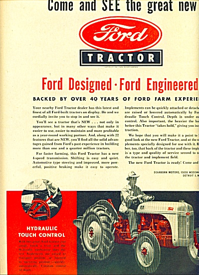 1947 - Ford Tractors Ad
