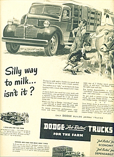 1947 - Dodge Job Rated Trucks For The Farm