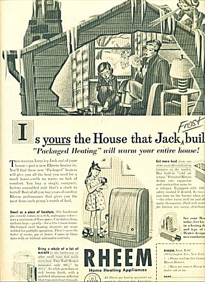 1947 -  Rheem home heating appliances ad (Image1)
