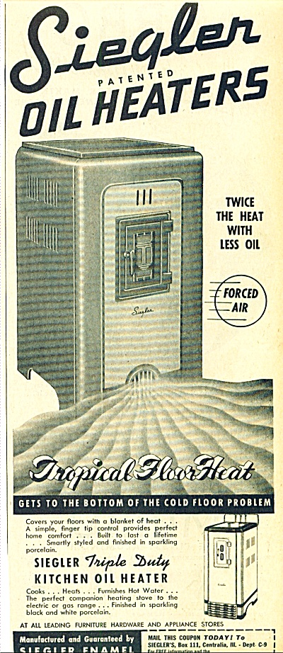 1947 - Siegler oil heaters ad (Image1)