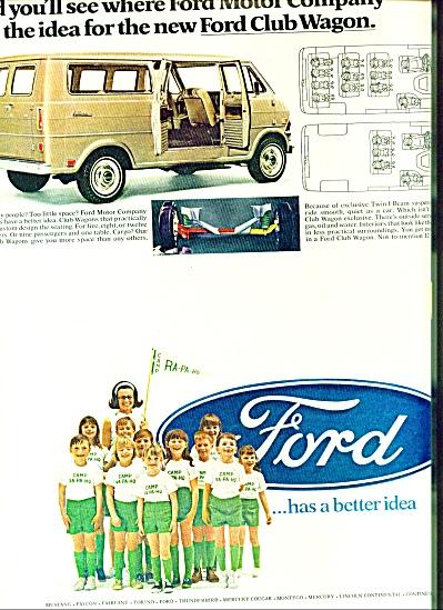 1968 -  Ford club wagon ad Cram 12 Campers Van (Image1)