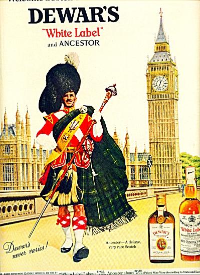 1968 -  Dewars white label ad (Image1)