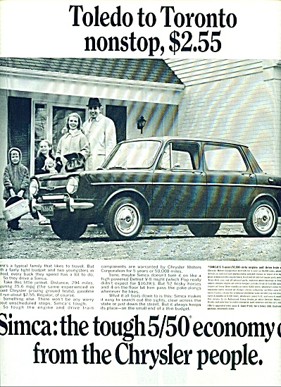 1967 -  Simca automobile ad (Image1)
