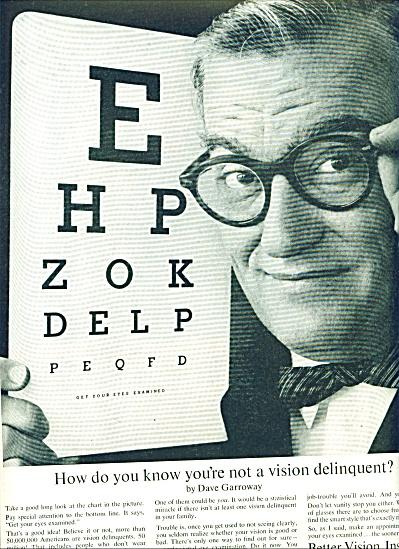 1960 -  Better Vision institute - DAVE GARROW (Image1)