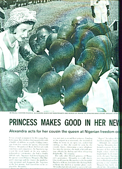 1960 -  Princess Alexandra in Nigeria (Image1)