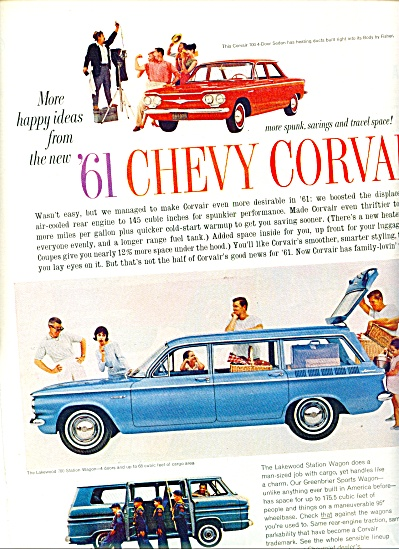 1960 -  1961 Chevrolet corvairs ad (Image1)