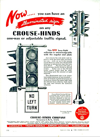 Crouse-Hinds trafic signals ad 1946 (Image1)