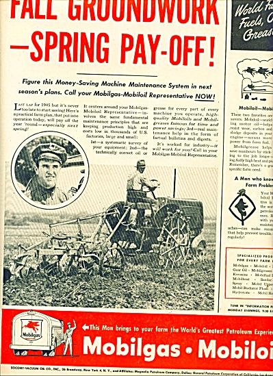 1945 -  Mobilgas- Mobiloil  ad (Image1)