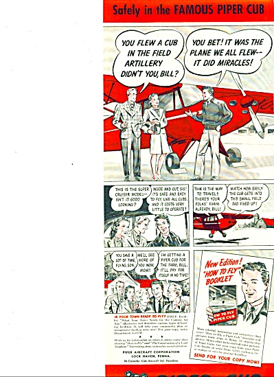 1945 -  Piper Cub airplane ad (Image1)