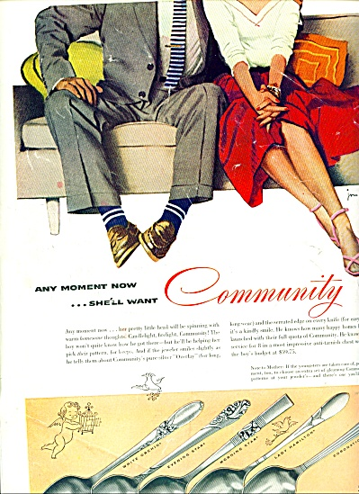1954 - Community Silverware Ad