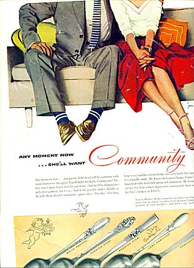 1954 - Community silverware ad (Image1)