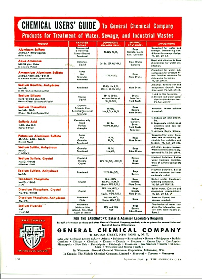 General Chemical Company ad 1946 (Image1)