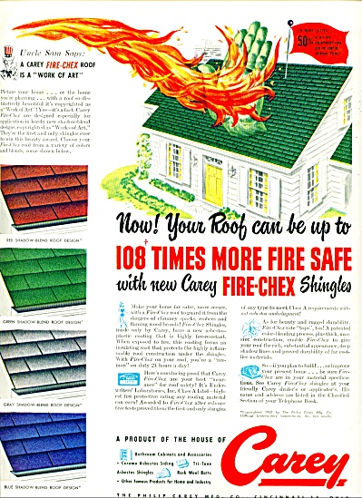 1950 -  Carey roof shingles ad (Image1)