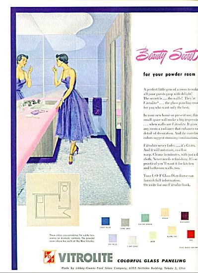 1950 -  Vitrolite glass paneling  ad (Image1)
