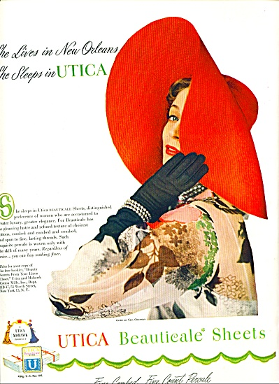 1950 =- Utica Beauticale Sheets Ad
