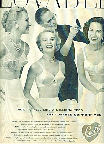1955 - Lovable bra ad (Image1)