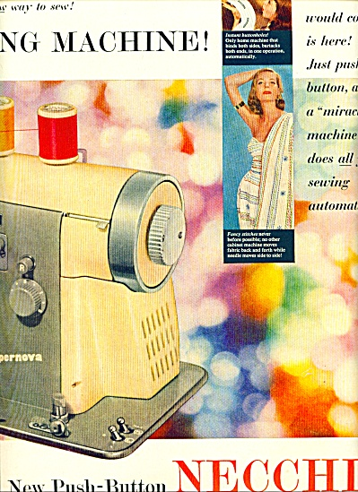 1955 -  Necchi automatic sewing machine ad (Image1)
