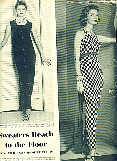 1955 -  Fashion: sweaters reach the floor (Image1)