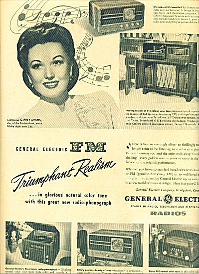 1947 - General Electric Radios - Ginny Simms