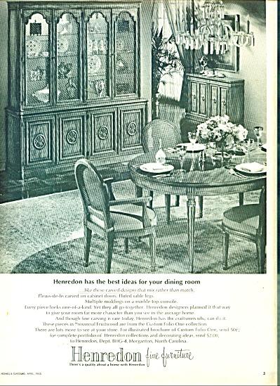 Henredon fine furniture ad 1965 (Image1)